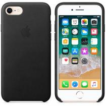 Apple iPhone 7/8 Leather case Black