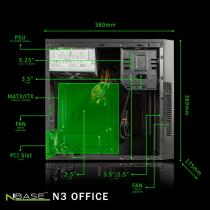 nBase N3 Office 420W Black